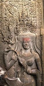 Devata image at Angkor Wat