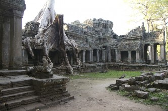 Views of Preah Khan Khmer Temple at Angkor