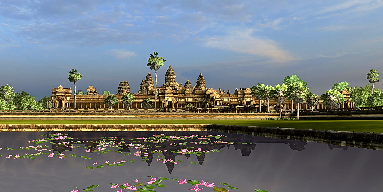 Vizerra's classic view of Angkor Wat reflecting in the north pool.