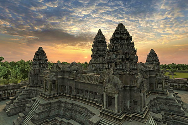 3D Virtual Tourism at Angkor Wat