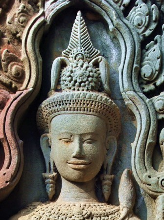 Khmer Devata Goddesses at Thommanon Temple the Gate of Victory