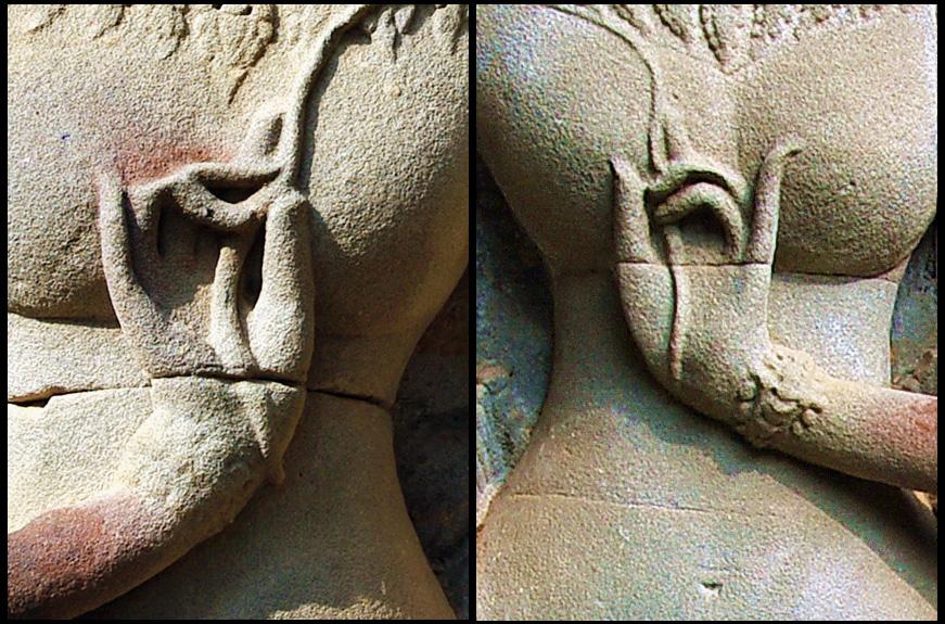 Khmer Devata Goddesses at Thommanon Temple the Gate of Victory