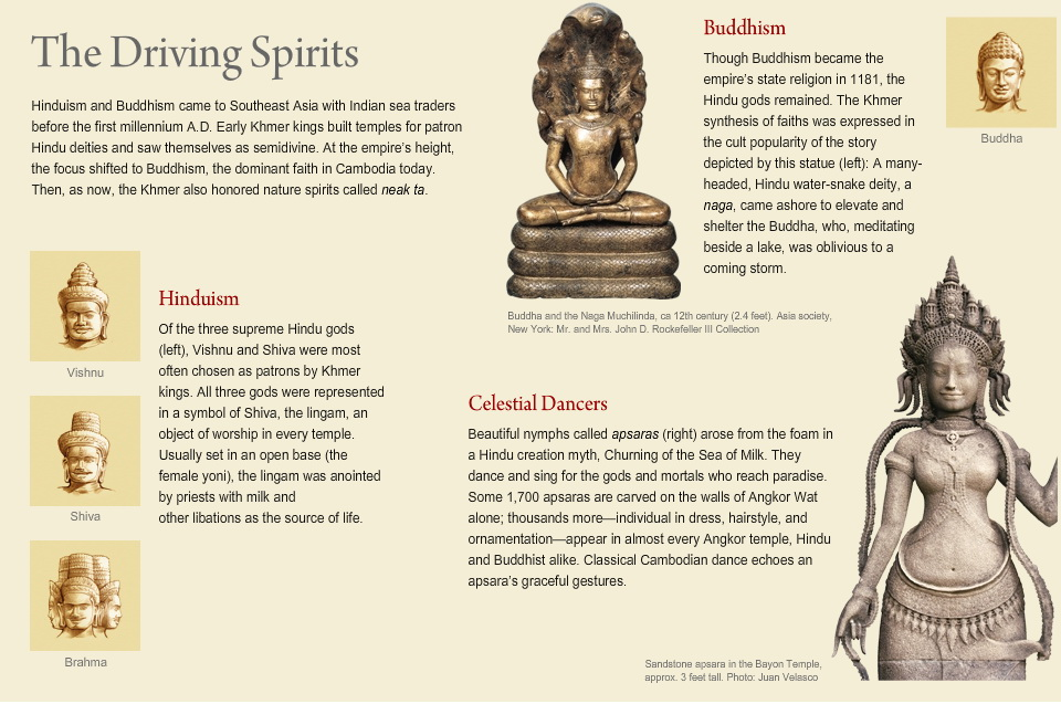 National Geographic's page on Divine Spirits of the Khmers