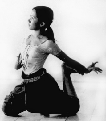 "Cambodian dancer in flying pose - Courtesy ""Earth in Flower"" by Paul Cravath"
