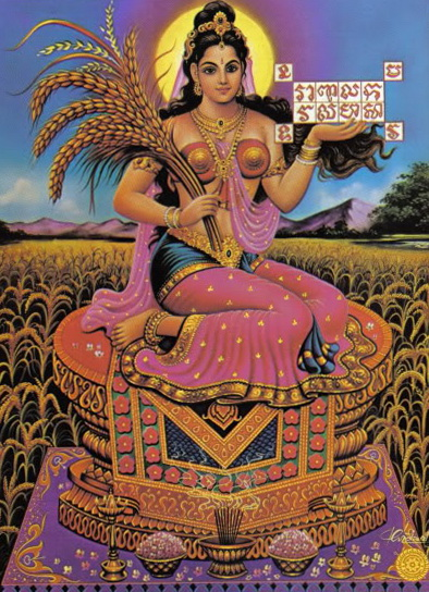 Rice Goddesses of Indonesia, Cambodia and Thailand