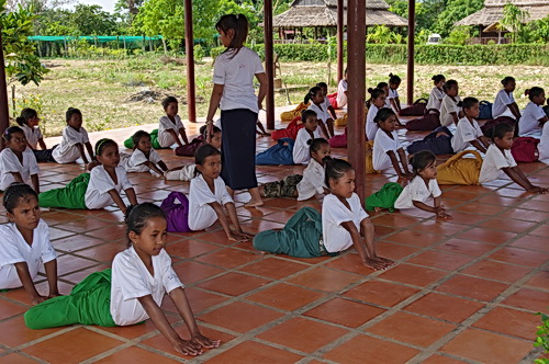 Psychological Healing From Cambodian Dance Arts: Children at NKFC study Cambodian classical and folk dance, as well as music.