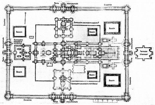 Early Banteay Chhmar temple plan by George Groslier.