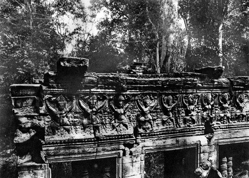 This photo by George Groslier in 1937 shows winged sacred women at Banteay Chhmar temple.