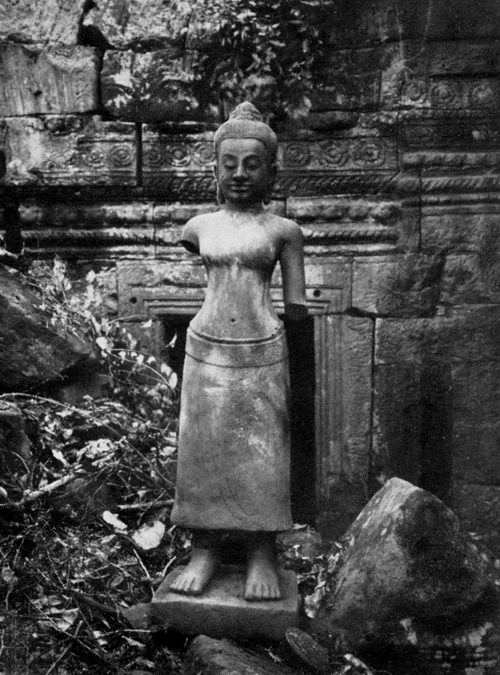 Buddhist goddess at Banteay Chhmar