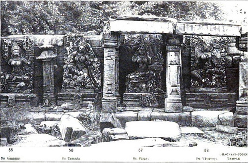 The yogini temple of Bheraghat, circa 1875.