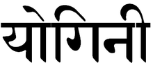 The word Yogini in Devanagari Sanskrit script