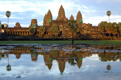 The Hindu temple of Angkor Wat in Siem Reap, Cambodia
