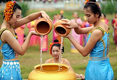 Of special significance is the Xishuanbanna water festival, coinciding with Khmer, Thai and Lao new year celebrations on April 13-15 each year.