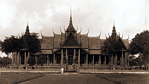 George Groslier designed the distinctive National Museum of Cambodia building as a tribute to traditional Khmer architecture. © National Museum of Cambodia