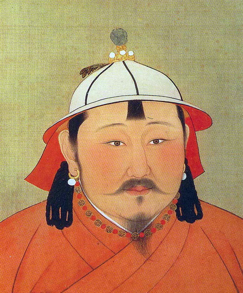 "Portrait of Emperor Temur Khan who ruled China from 1294–1307 when Zhou Daguan wrote his ""Record of Cambodia."""