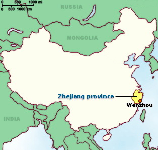 """The port city of Wenzhou China were Zhou Daguan embarked before writing his """"Record of Cambodia."""""""
