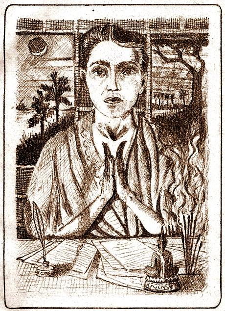Roland Meyer, self portrait, circa 1909