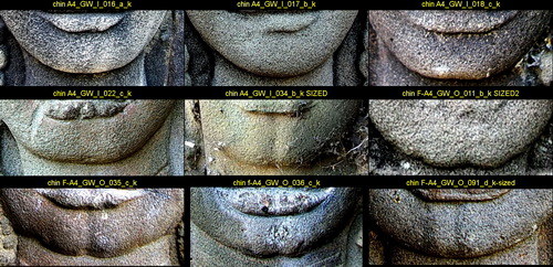 Angkor Wat women: chin comparison photos.