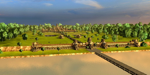 Vizerra's Angkor Wat 3D model allows you to explore the entire site by air or on the ground.