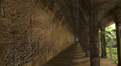 Angkor Wat 3D bas relief galleries now show textures but will soon accurately render the artwork.