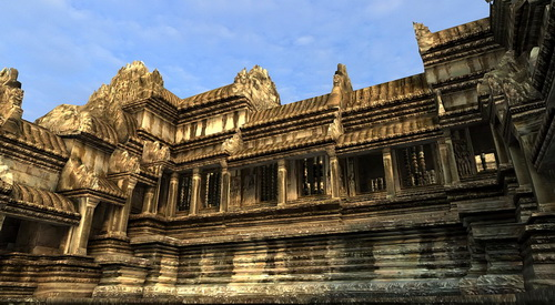 Angkor Wat 3D cruciform gallery is accurately ringed with devata in Vizerra's model