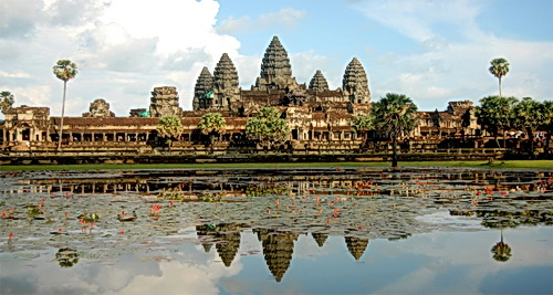 The Khmer temple of Angkor Wat: a 12th century model of heaven on Earth.