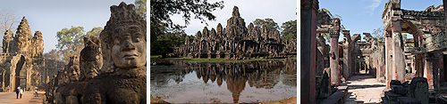 The Khmer temples of Angkor Thom, the Bayon and Preah Khan.