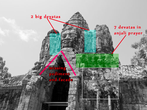Each gate revealed the beliefs of the royal Khmer trio.