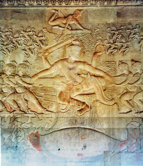 "Angkor Wat features the largest artistic representation of the Hindu legend of ""the churning of the ocean of milk"" on Earth, highlighted in a performance by the Royal Ballet of Cambodia."