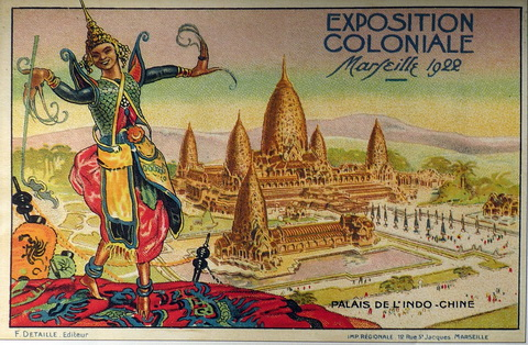 "1922 Marseilles Colonial Exhibition from ""Picture Postcards of Cambodia: 1900-1950"" By Joel Montague."