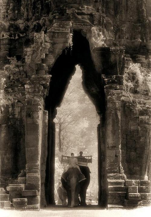 """Angkor Thom gate"" an Angkor photo by John McDermott."