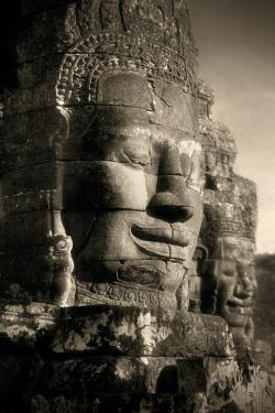 Angkor photo: Faces on The Bayon by John McDermott