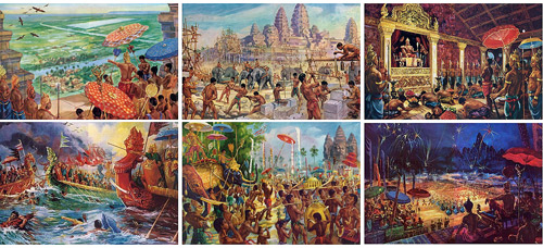 Maurice Fievet's extraordinarily accurate visions of Angkor.
