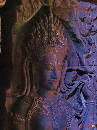 This exquisite Khmer goddess lives in the heart of Preah Khan temple.