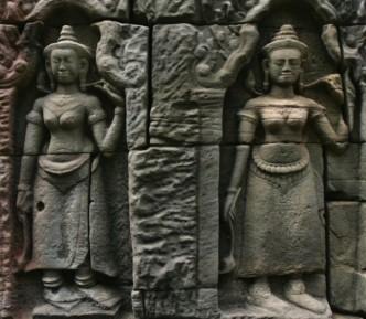 Ta Som Temple Devata Goddesses