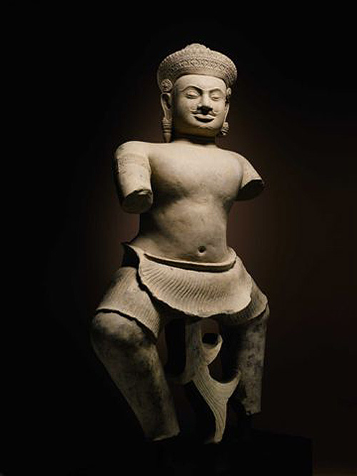 10th century Cambodian sculpture from Koh Ker, previously scheduled for a multi-million dollar Sotheby's sale.