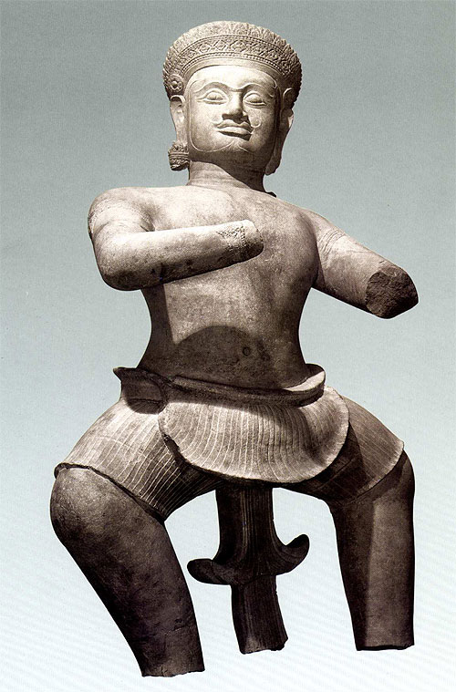 "The Norton Simon dvarapala from Koh Ker, featured in ""Adoration and Glory"", p. 149."