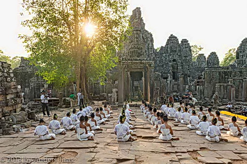 NKFC Boung Soung at Bayon temple, Angkor - Photo © Anders Jiras