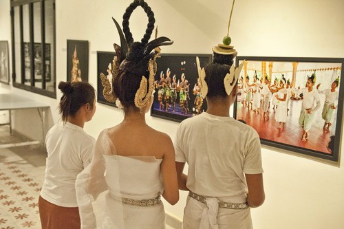 The Sacred Dancers of Angkor perform blessing rituals at the National Museum of Cambodia honoring George Groslier, the museum's founding director. February, 2011.