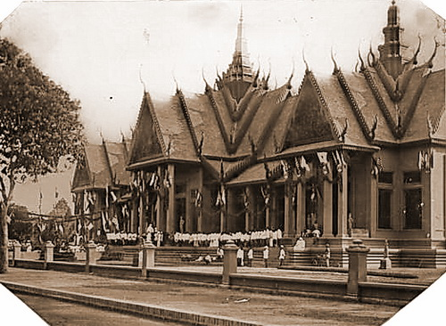The grand opening of the museum during the Cambodian New Year celebrations of 1920, on April 13.