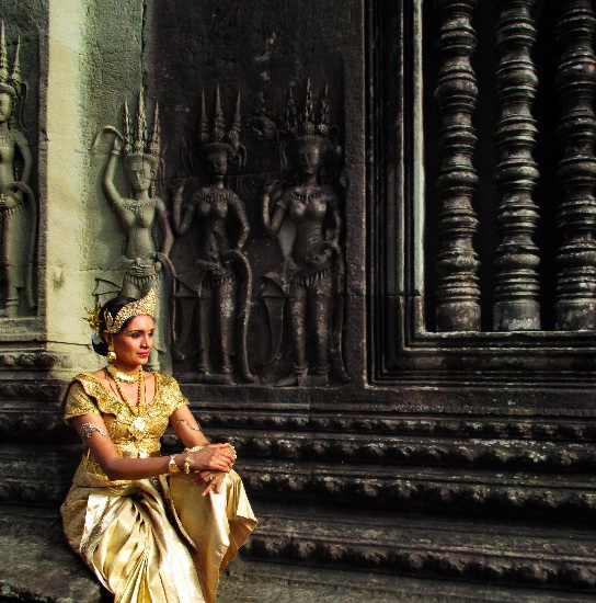 "Apsara Arts dancer Priyadarsini Govind in her role as Vyjanthi in ""Angkor the Untold Story"""
